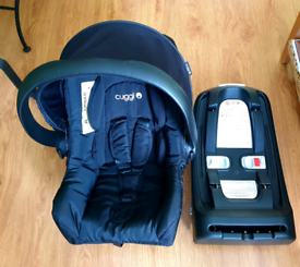Cuggl dove infant car seat with ISOFIX base