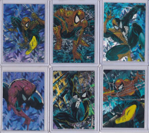 SPIDER-MAN MCFARLANE ERA 1992 PRISM INSERT CARD SET P1 TO P6