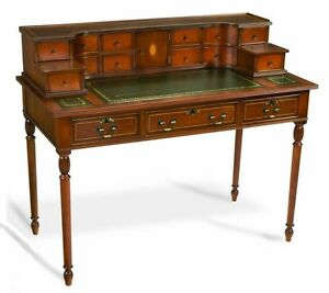 BRANDNEW cedar writing desk w/ 1/2inch glass top salestagson