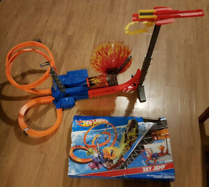 "Hot Wheels ""Sky Jump"" set."