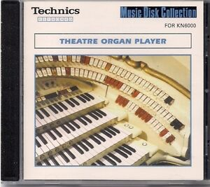 Music Disc for Tecnics KN 6000 Keyboard. Theater Organ Player.