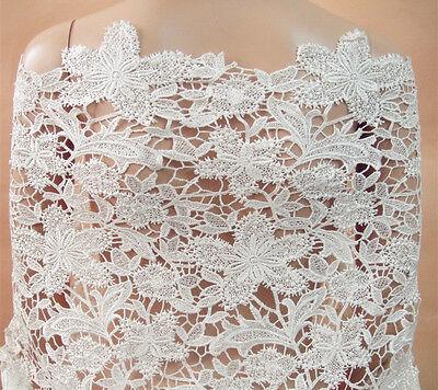 Guipure Stickereien Kostüm Rand Blüte Braut Tanzend Kleid Spitze Stoff - Braut Tanz Kostüm