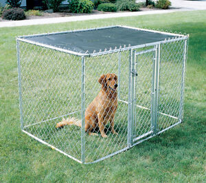 NEW CHAIN LINK PORTABLE KENNEL CAGE-6'x6'x4' - HALF OFF $295!