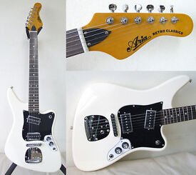 BRAND NEW ARIA 1532J RETRO CLASSICS IN VINTAGE WHITE JAPANESE IMPORT!