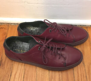 ~ BRAND NEW: Men's Ted Baker Shoes ~ Size 8 Burgundy Prinnc ~