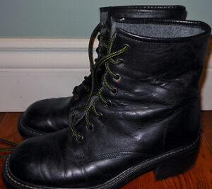 ALDO leather winter boots made in Italy sz 40 (10US)