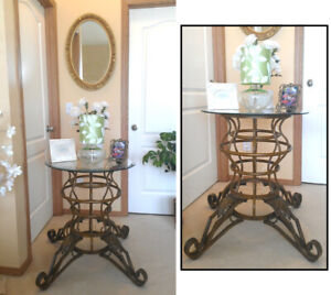 Scroll Legs Console / Sofa / Entryway Table, Gorgeous!
