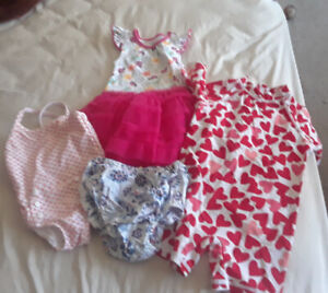 3 full garbage bag of baby girl clothes 0-6 months.