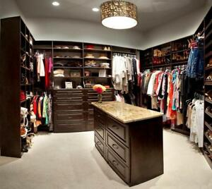 Completely Custom Closets Made right here in The GTA! High quality Materials and design. Maximize your closet space.