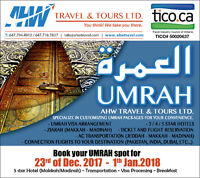 Domestic and International Airline Fare and Umrah Package 2018