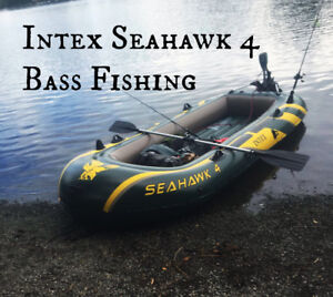 2018 New Intex Seahawk 4, 4-Person Inflatable Boat
