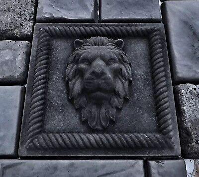 Lions Head Concrete Molds Bas Relief (2 pcs)