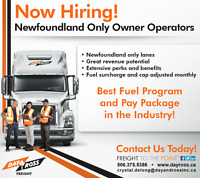 Owner Operator Newfoundland Only