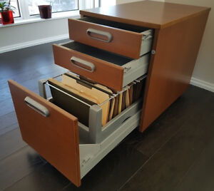 Mini file cabinet with 3 drawers