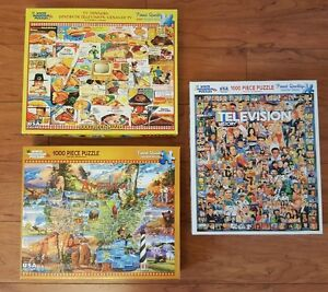Jigsaw Puzzles - Lot of Nine (9) Used