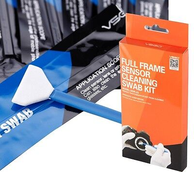 FULL Frame (CCD/CMOS) Digital Camera Sensor Cleaning Swab Kit(10 x 24mm Swab)