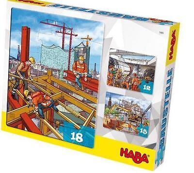 Puzzle Jigsaw Baustellenpuzzle Construction Site Haba 7465