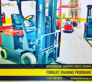 Forklift Training - New & Experienced Operators from 30% off