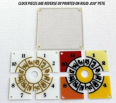 Bally Twilight Zone Pinball Machine BRAND NEW PETG 3 Piece CLOCK Plates