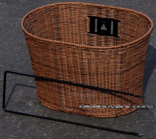 Fito Oval Dark Brown Wicker Mounting Basket for Beach Cruiser Bikes
