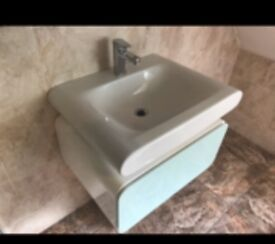 Beautiful Large bathroom sink with taps drawers