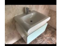 Large bathroom sink with drawers