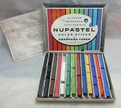 Vintage NUPASTEL color sticks pastel. Box of - Pastel Box