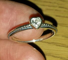 PANDORA S 925 Ale 54 silver ring