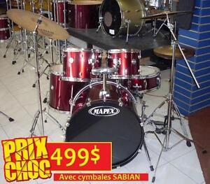 AUBAINE DU JOUR Batterie drum MAPEX avec cymbales SABIAN PRO complet bon calibre et très propre