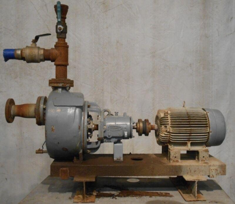 FLOWSERVE PUMP SYSTEM, 20HP MOTOR, 1755 RPMS, HERTZ 60, PHASE 3, VOLTS 230/460