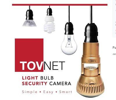 TOVNET CAM Smart loT LED Bulb CCTV Easy & Simple install DIY 147G Audio + CCTV