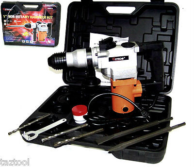 "1"" Rotary Hammer Drill  Electric Power w/ Punch Chisel Drill Bits SDS plus 3/4HP"