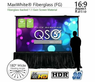 Elite Screen Qs180hd Quickstand 5-second Series 180169 Projector Screen