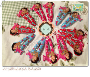 12 x Dora Hair Clips Party Bags