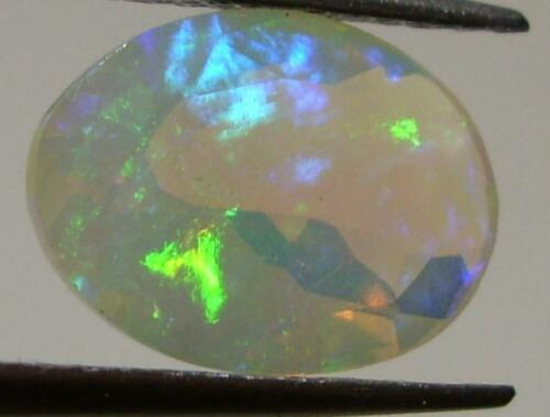 2.19ct BEAUTIFUL FIRE Faceted Wello Ethiopian Opal Oval Cut SPECIAL