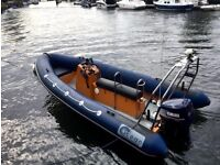 Ocean Rib Boat 5.8 with 115hp Yamaha v4 and Rollercoaster Trailer