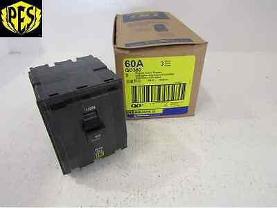 New Square D Qo Qo360 3 Pole 60 Amp Breaker 3p 60a 240v Qo Fits Nq Nib