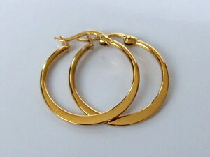 18ct Gold Plated Creole Hoop Earrings 20mm.