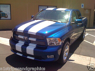 "09 2010 11 12 17 Dodge Ram 11"" Twin Rally Stripe Stripes Decal Decals Graphics"