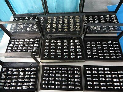 *US Seller*50 cents/ring-lot of 30 Wholesale men's jewelry stainless steel rings (Wholesale Stainless Steel Rings)