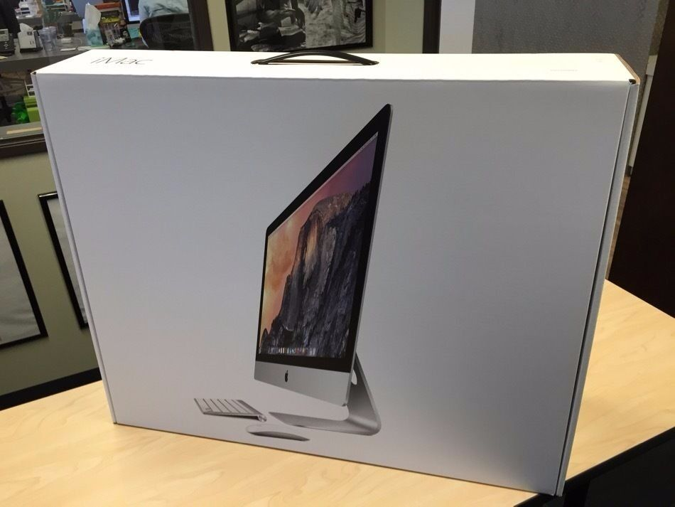 APPLE IMAC 27 INCH 5K 2015/16 INTEL CORE I5 3.2GHZ 8GB RAM 1TB FUSION DRIVE FULLY BOXED WARRANTYin Dollis Hill, LondonGumtree - 27 inch iMac with Retina 5K display 3.2GHz quad core Intel Core i5, Turbo Boost up to 3.6GHz 8GB 1867MHz DDR3 SDRAM two 4GB 1TB Fusion Drive AMD Radeon R9 M390 with 2GB video memory Magic Mouse 2 Magic Keyboard 2 (British) & User's Guide (English)...