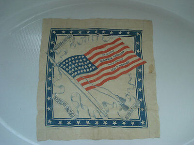 HARRISON AND MORTON SILK HANKY ~ POLITICAL