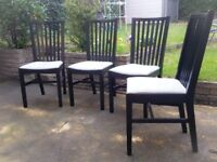 Excellent IKEA NORRNÄS set of 4 dining chairs gray / black