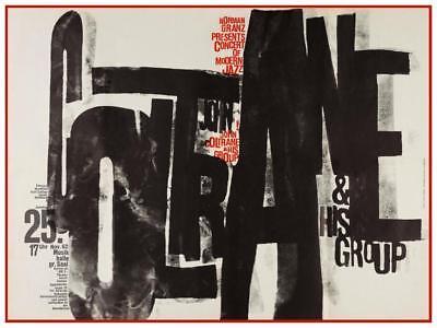 """John Coltrane - POSTER - Live Jazz CONCERT - Elvin Jones McCoy Tyner 24"""" print"""