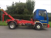 FORD IVECO 75e15 multi lift HL5 hookloader with back