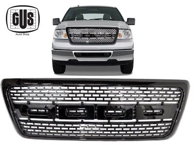 2004 2008 Ford F150 Gloss Black Front Grille Raptor Style With Mounts Gril 04 08