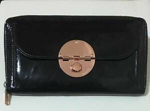 MIMCO ROSE GOLD LARGE TURNLOCK TRAVEL WALLET RRP $249 Haymarket Inner Sydney Preview