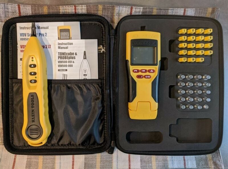 Klein Tools VDV network coax tester, remote IDs, and tone tracing probe