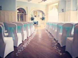 Wedding and event decor from Lily Special Events, including chair covers, centrepieces, decorations