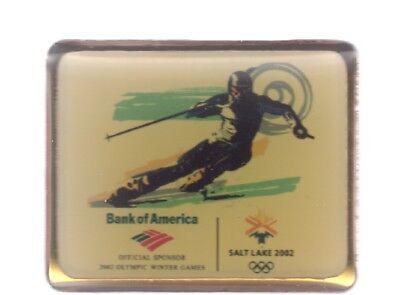 2002 Bank Of America Salt Lake City Olympic Pin Downhill Skiing Alpine